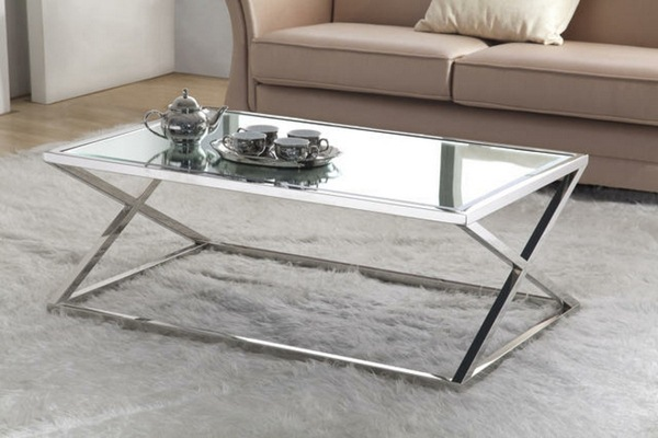 Picture of: Square Glass Coffee Table Height