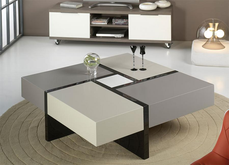 Image of: Square Glass Coffee Table Ideas
