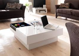 Picture of: Square Glass Coffee Table Ottoman