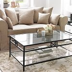 Square Glass Coffee Table Rectangular