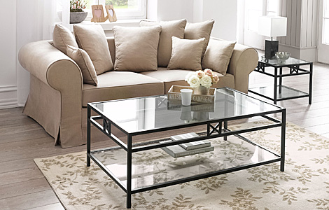 Image of: Square Glass Coffee Table Rectangular