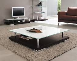 Image of: Square Glass Coffee Table with Storages
