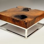 Square Natural Wood Coffee Table