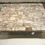 Square Petrified Wood Coffee Table
