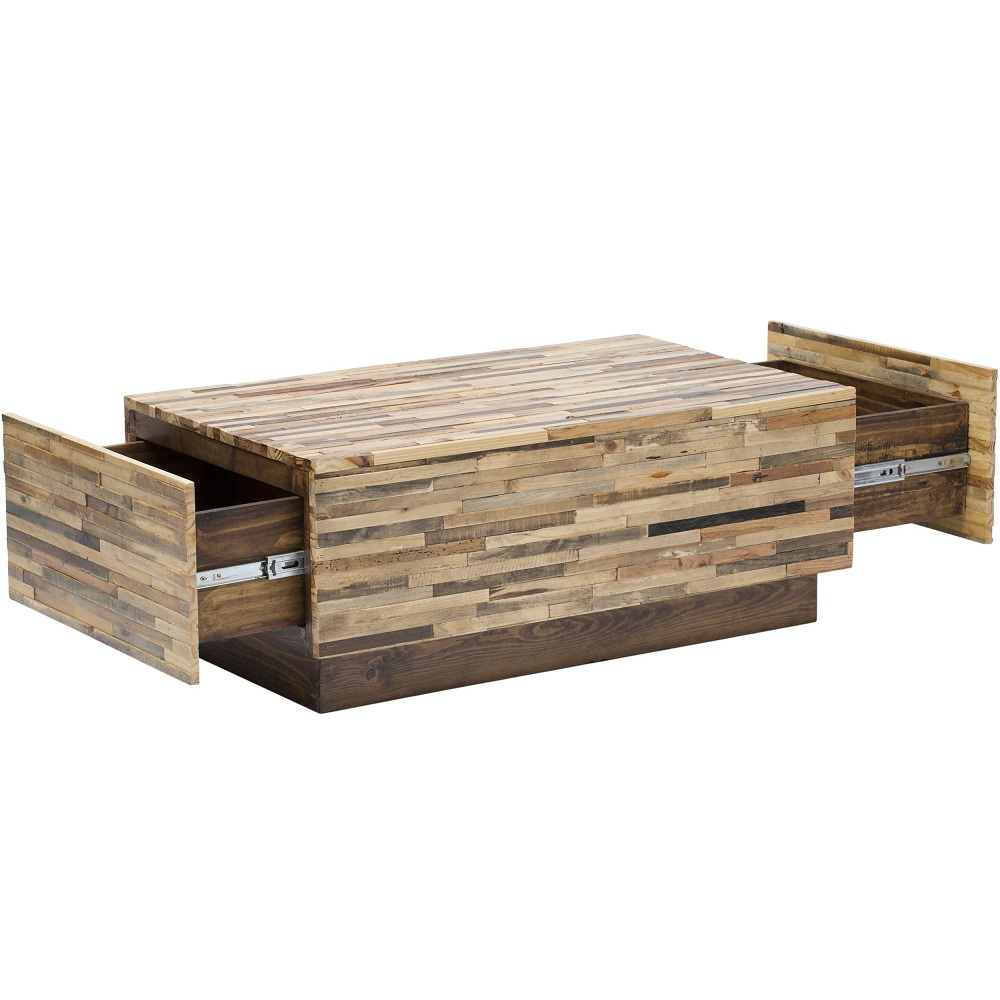 Picture of: Square Reclaimed Wood Coffee Table