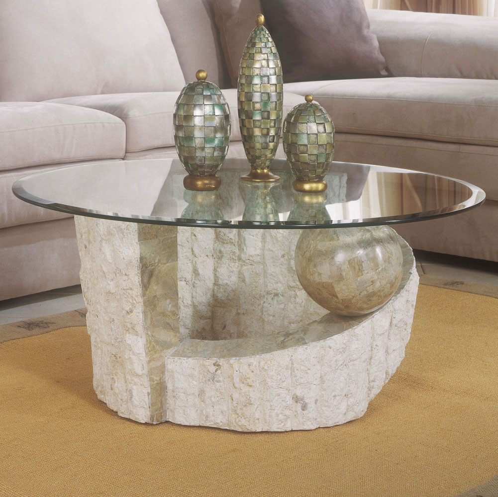 Image of: Stone Coffee Table Bases