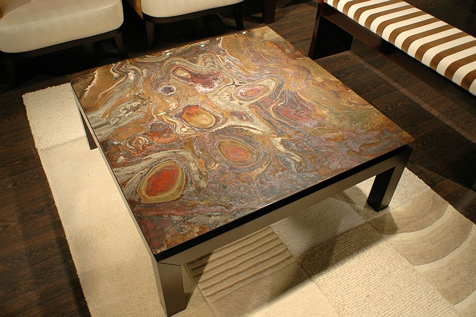 Image of: Stone Coffee Table Furniture