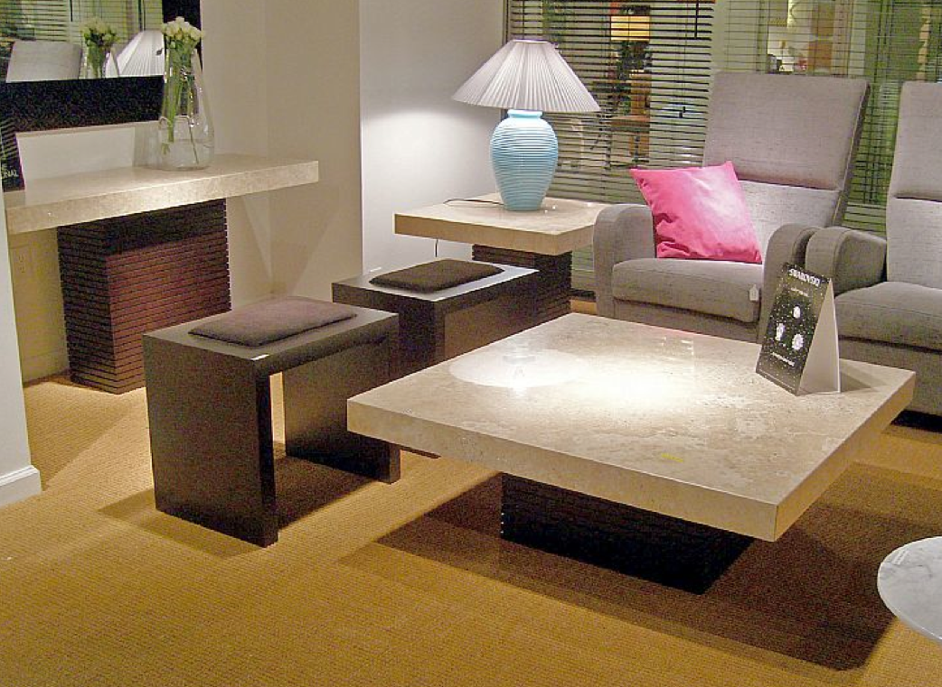 Image of: Stone Coffee Table Image