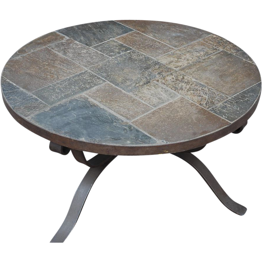 Image of: Stone Coffee Table Round