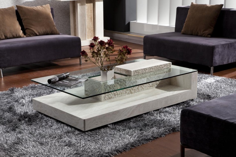 Image of: Stone Coffee Table Set