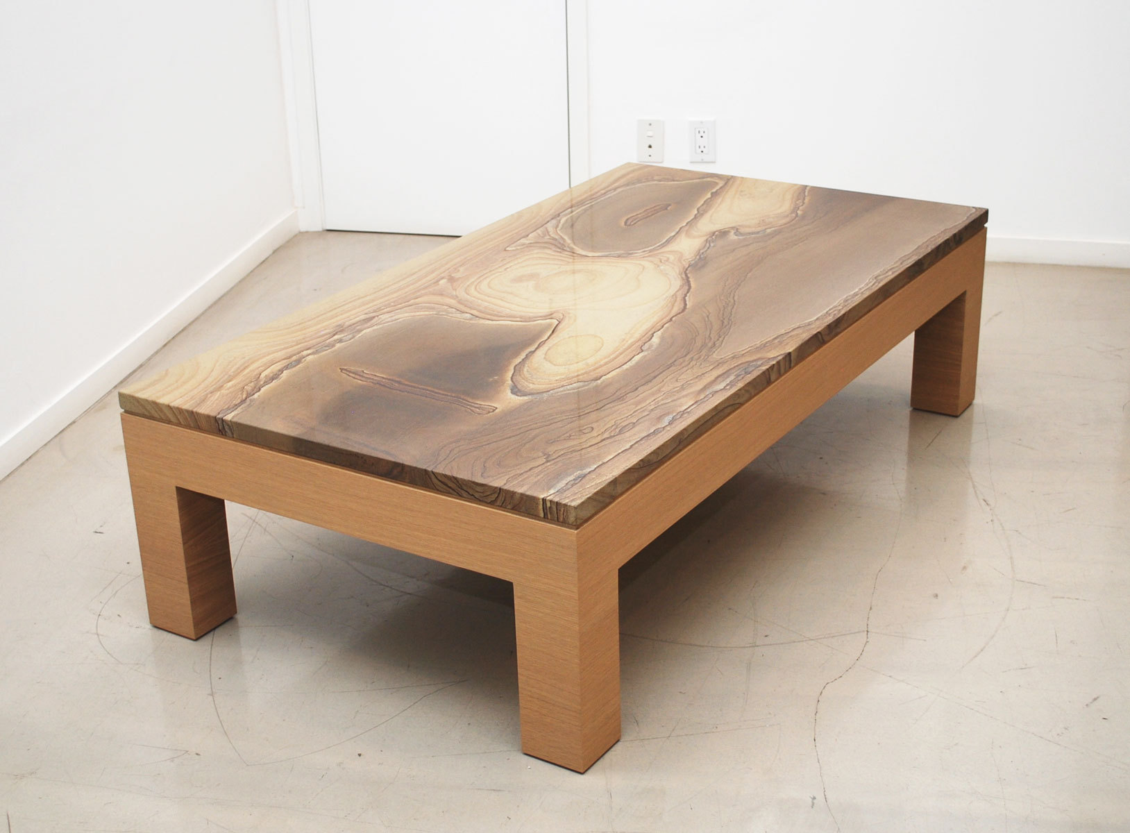 Image of: Stone Coffee Table