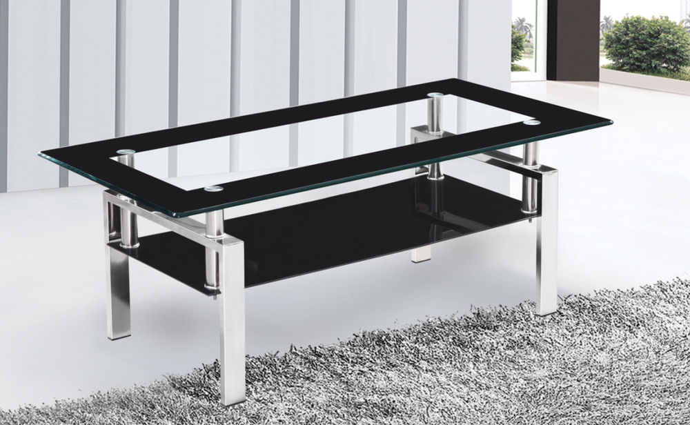Picture of: Style Coffee Table with Metal Legs