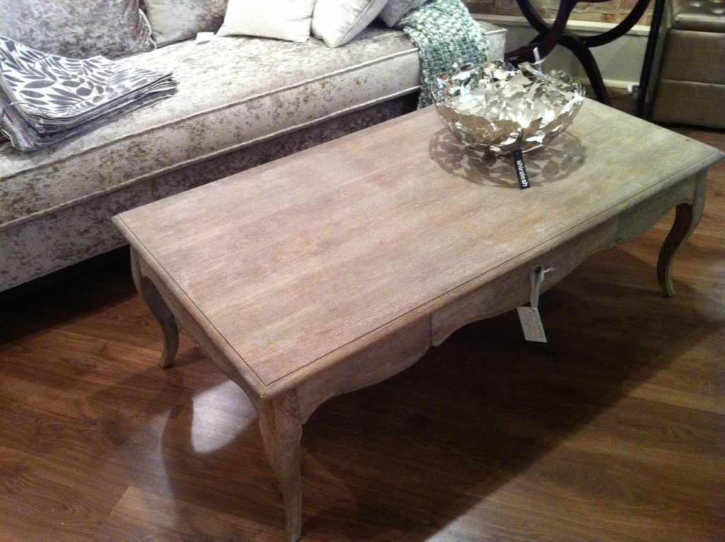 Picture of: Style Distressed Wood Coffee Table