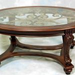 Stylish Oval Glass Top Coffee Table