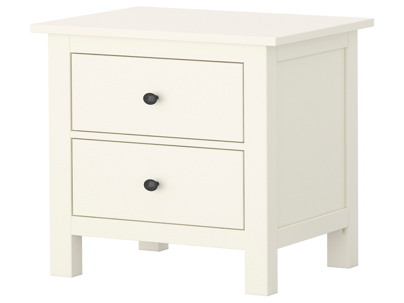 Image of: Stylish White Bedside Table