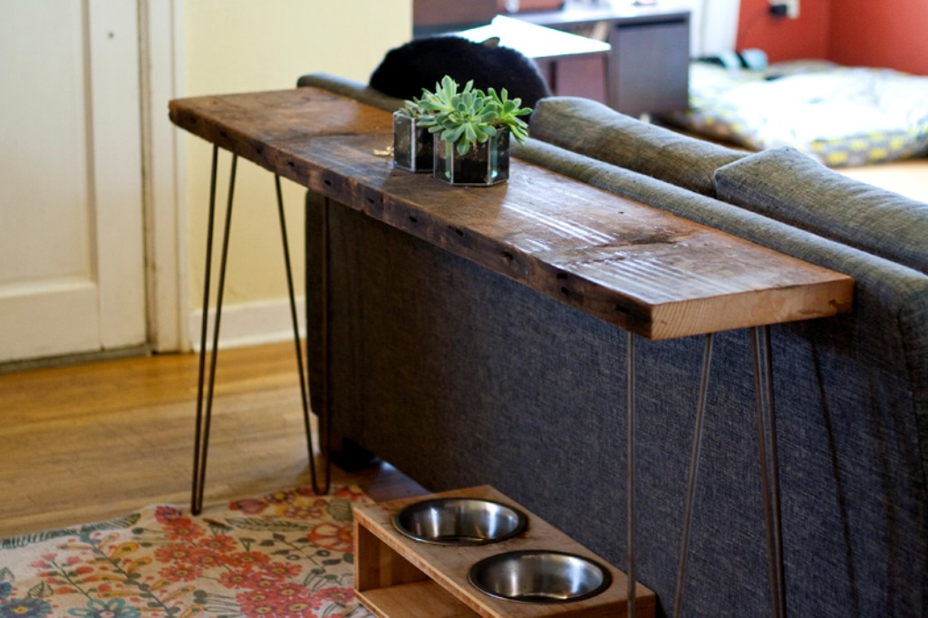 Image of: Super Skinny Sofa Table