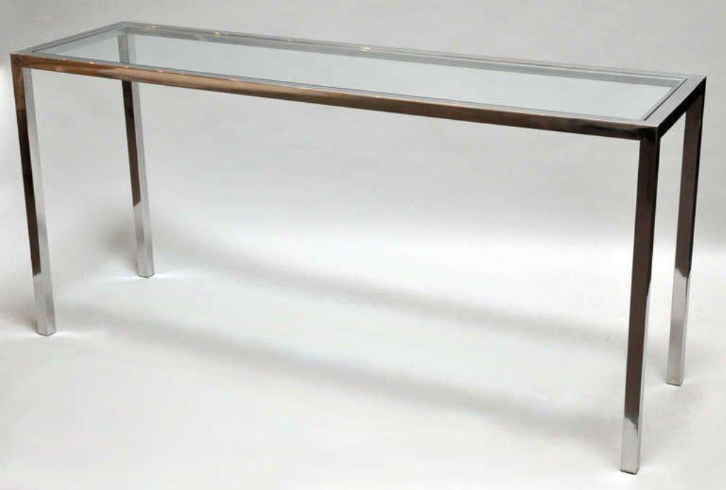 Picture of: Tall Console Table Glass