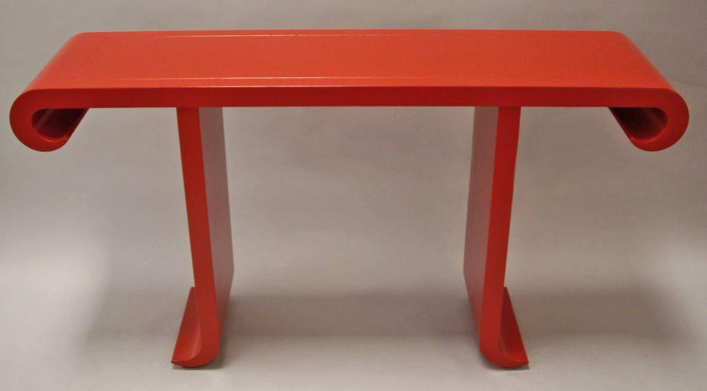 Picture of: Tall Console Table Red