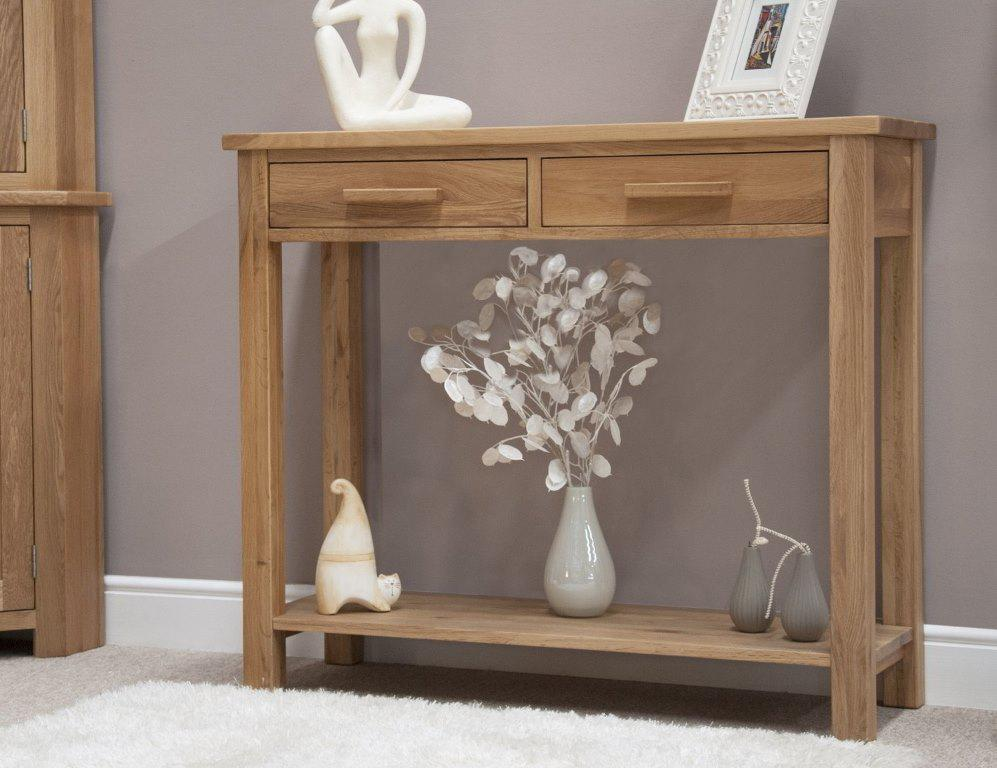 Picture of: Tall Console Table With Drawers