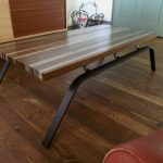 Tipes Coffee Table With Metal Legs