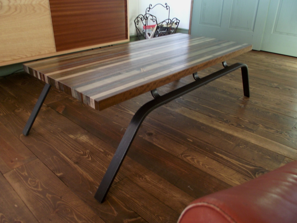Picture of: Tipes Coffee Table with Metal Legs