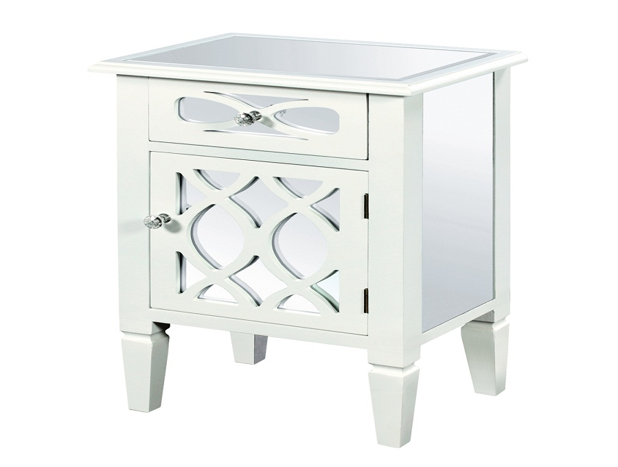 Image of: Top White Bedside Table