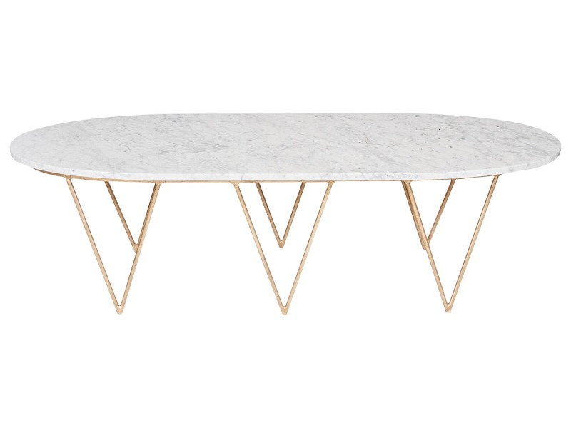 Image of: Top White Marble Coffee Table Oval