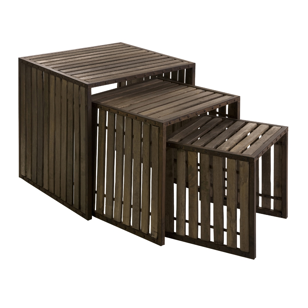 Image of: Top Wood Nesting Tables