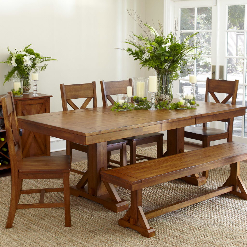 Picture of: Traditional Trestle Dining Room Table