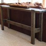 Traditional skinny sofa table