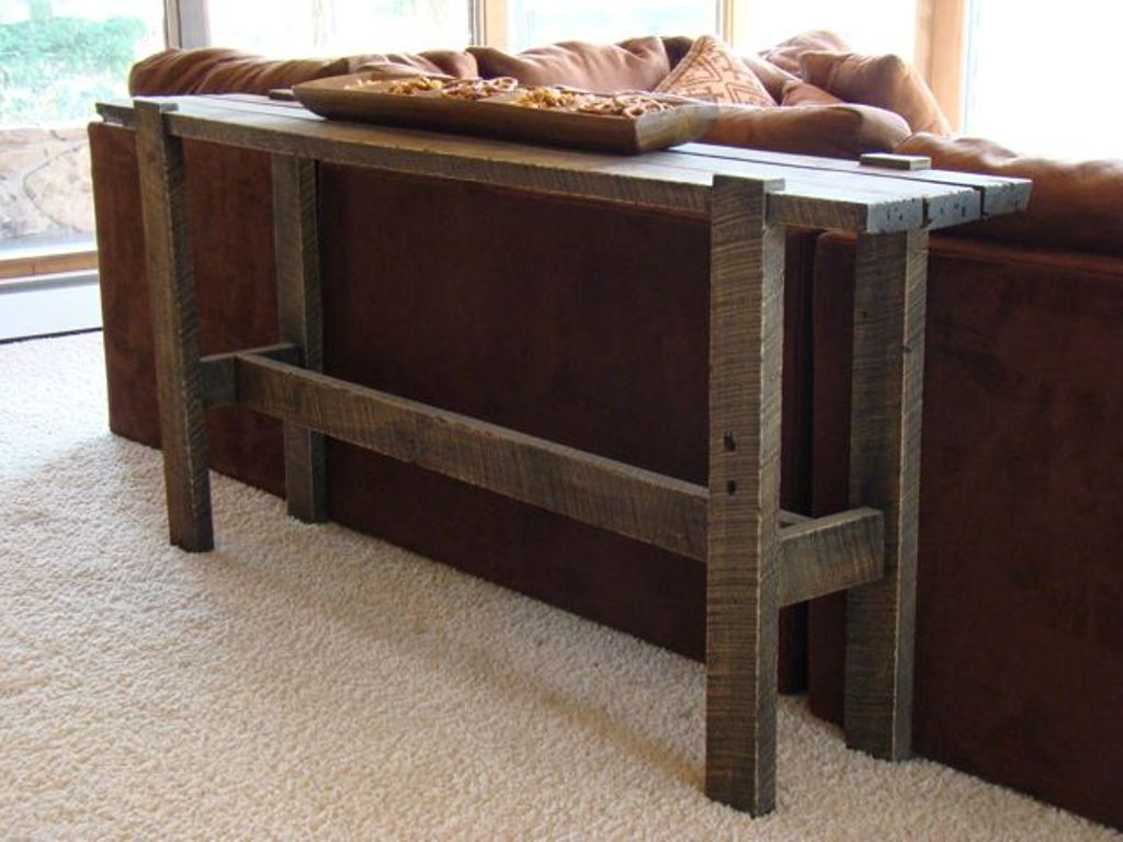 Image of: Traditional skinny sofa table
