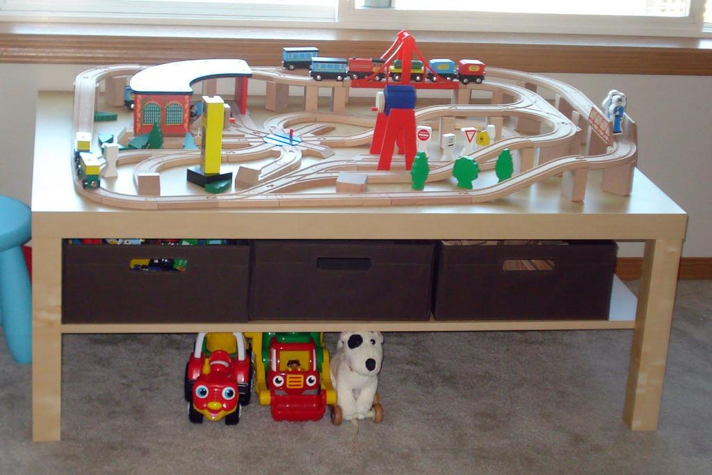 Picture of: Train Play Table With Storage