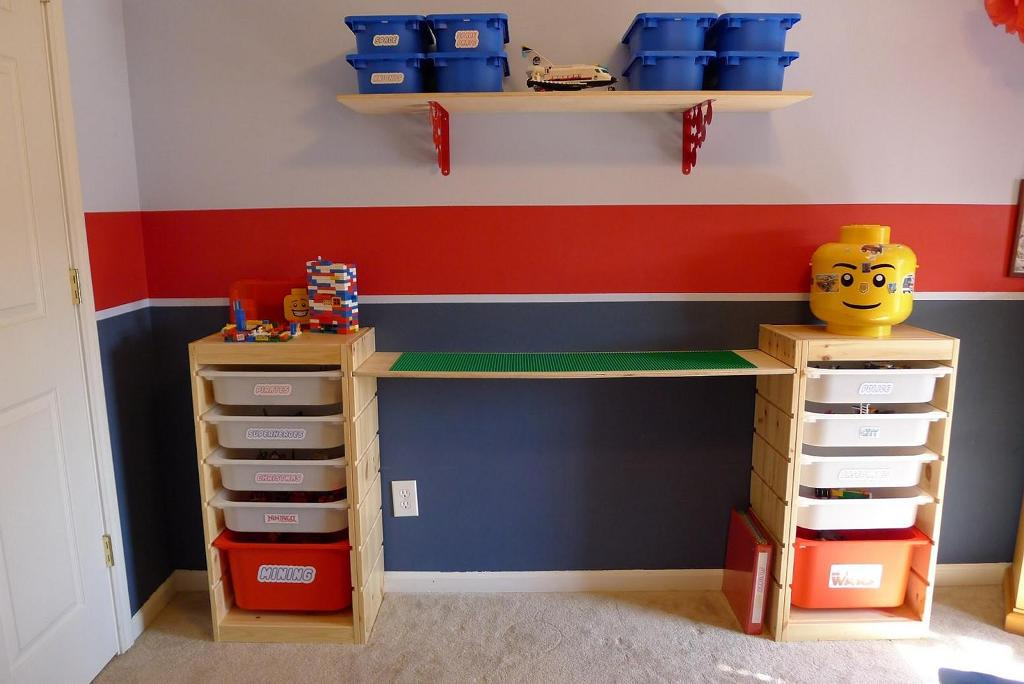 Picture of: Train Table With Storage Bins