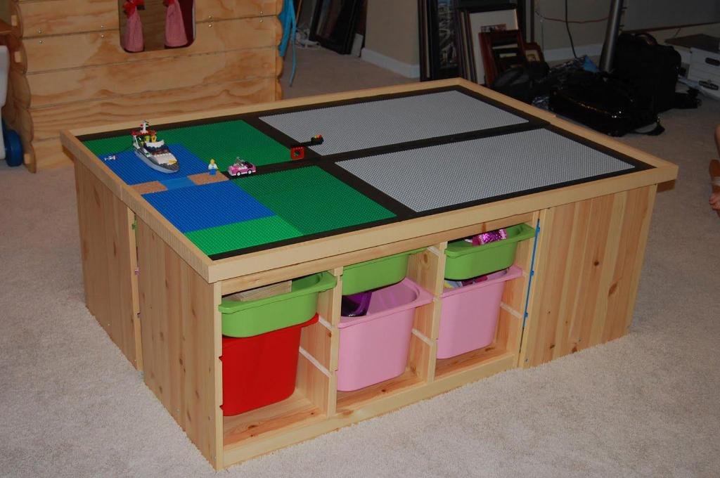 Picture of: Train Table With Storage Diy