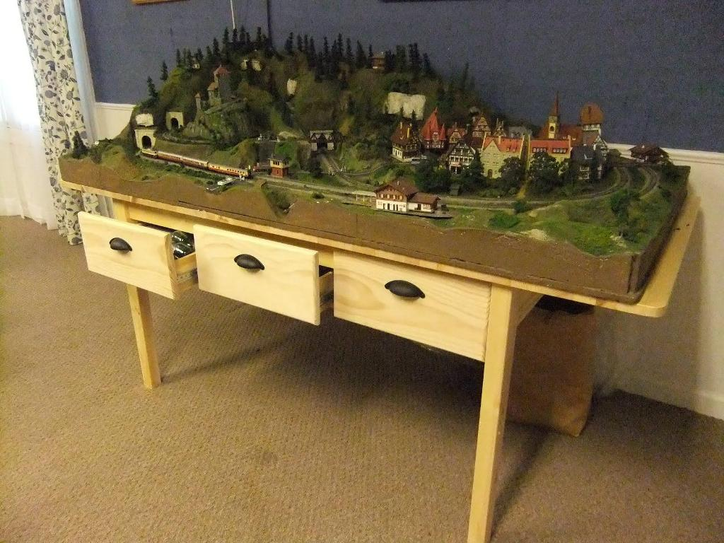 Picture of: Train Table With Storage Drawers