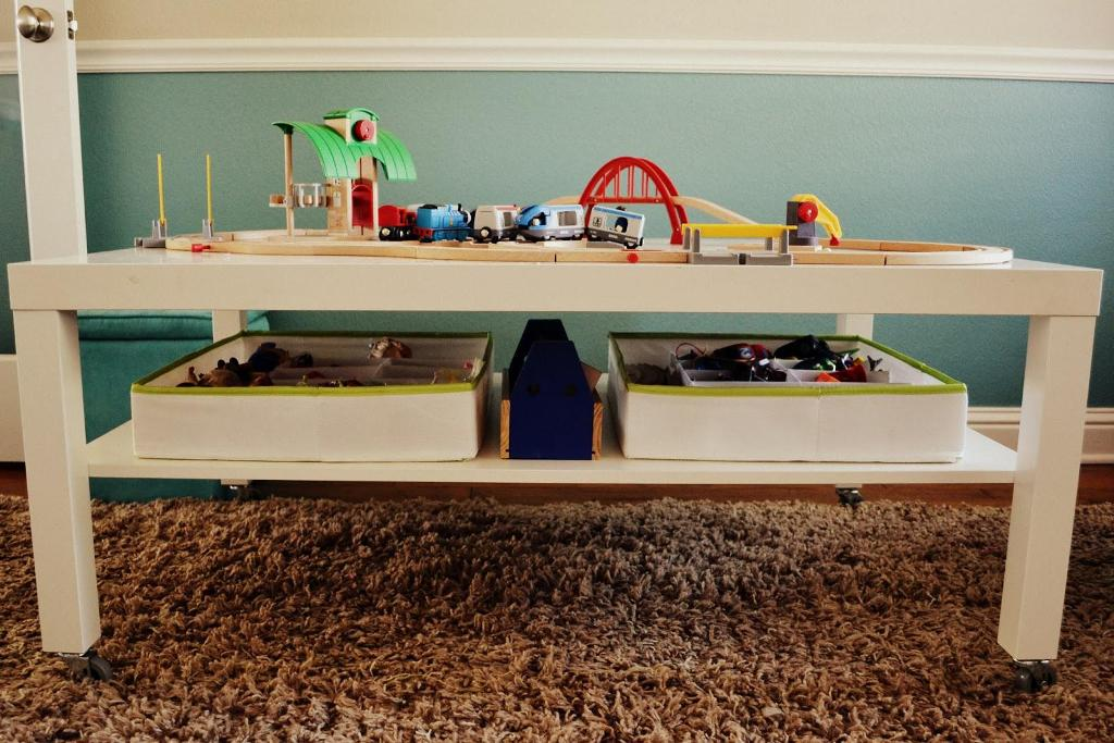 Image of: Train Table With Storage Plans