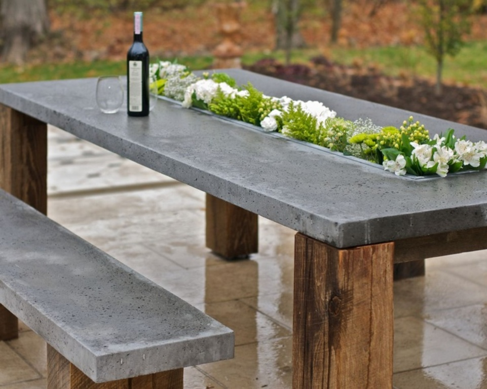 Picture of: Trend Repairing Concrete Picnic Tables