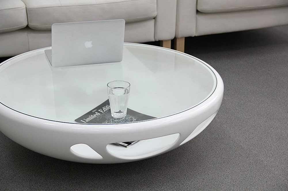 Picture of: Unique Glass Oval Coffee Table