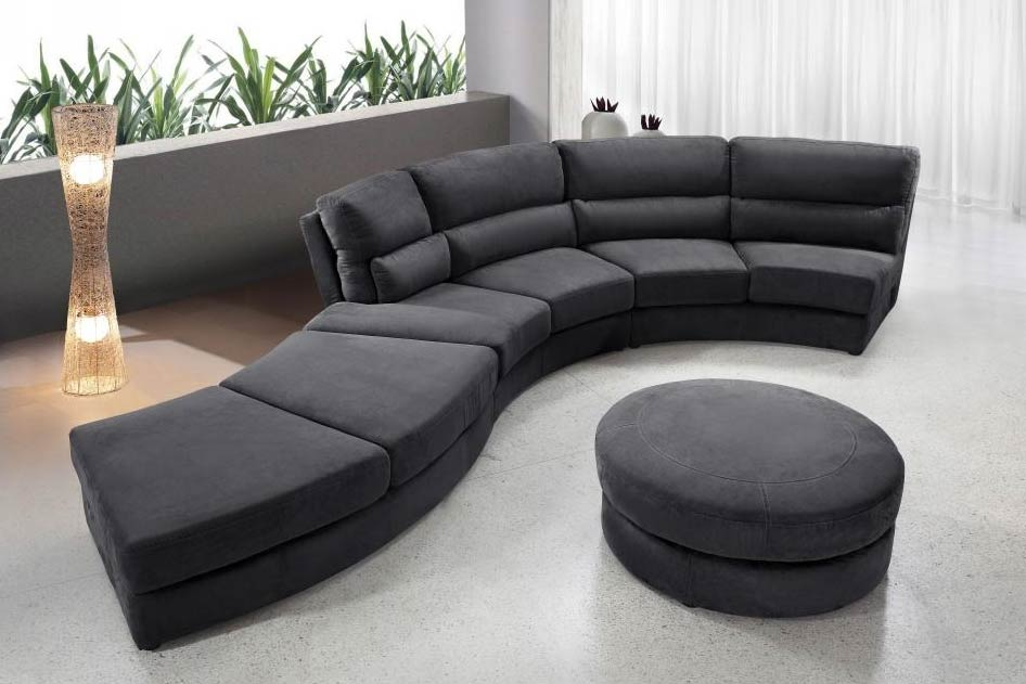 Image of: Unique Microfiber Sectional Sofa
