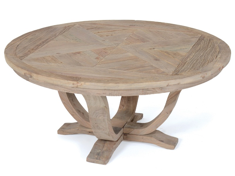 Image of: Unique Rustic Round Dining Table