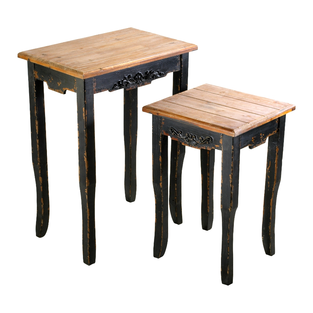 Picture of: Unique Wood Nesting Tables