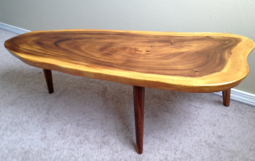 Image of: Unique Wood Slab Dining Table