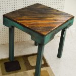 Uniquie Reclaimed Wood Side Table
