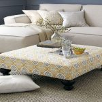 Upholstered Ottoman Coffee Table Rectangle