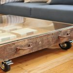 Vintage Wood Trunk Coffee Table