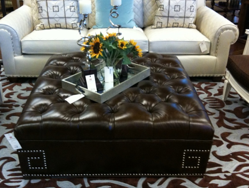 Picture of: Vintage leather coffee table