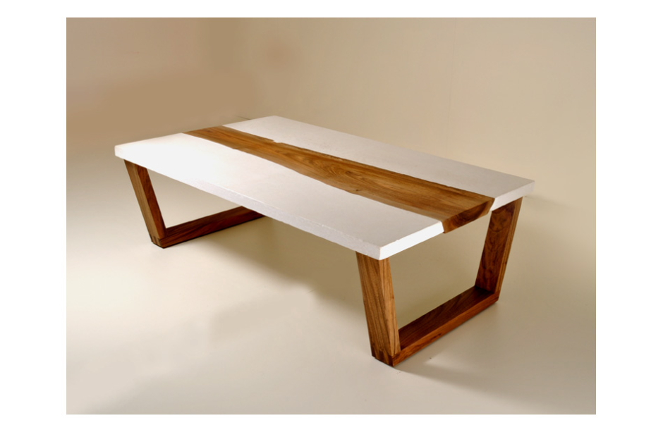 Image of: Walnut Concrete Coffee Table