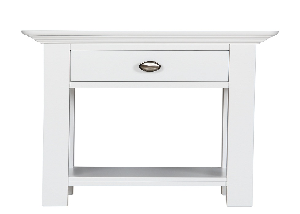 Picture of: White Bedside Table Design