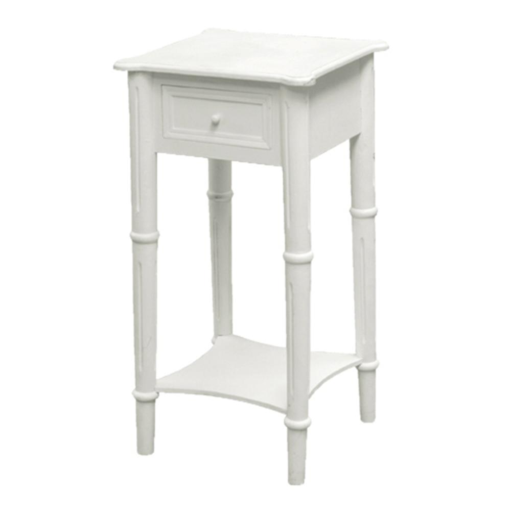 White Bedside Table Style