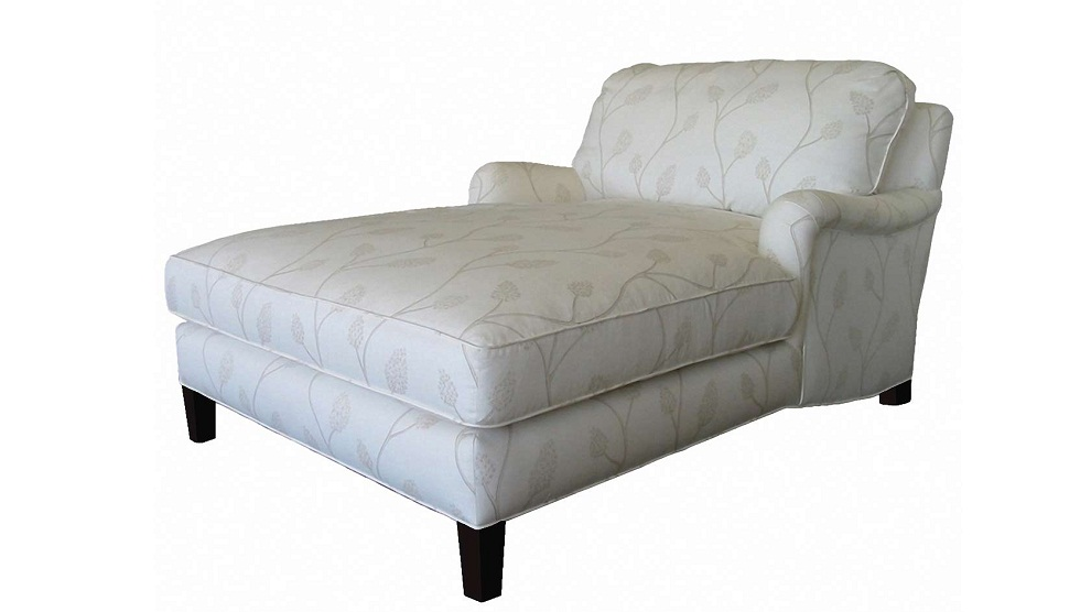 Image of: White Double Chaise Lounge